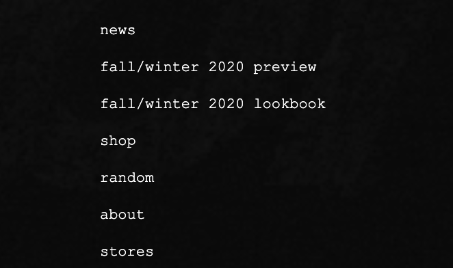 Fall/Winter 2020 Overview
