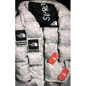 Supreme/The North Face Tee Leaks Paper Style Nuptse