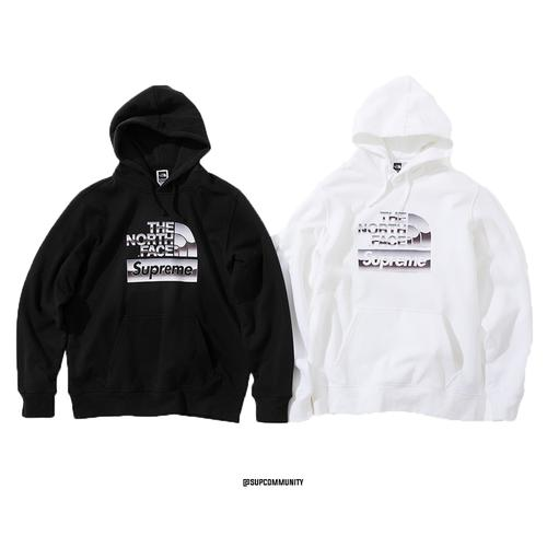 Supreme®/The North Face® Metallic Logo Hooded Sweatshirt - Supreme / The North Face SS18 Collaboration