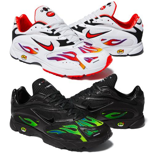 Supreme®/Nike® Air Streak Spectrum Plus - Mesh upper with printed pattern and pearlized leather side panels, heel and toe cap. Full-length, low-profile Phylon midsole and forefoot Duralon cushioning. Mesh tongue with puff logo appliqués and embossed reflective graphic on heel. Made exclusivel...