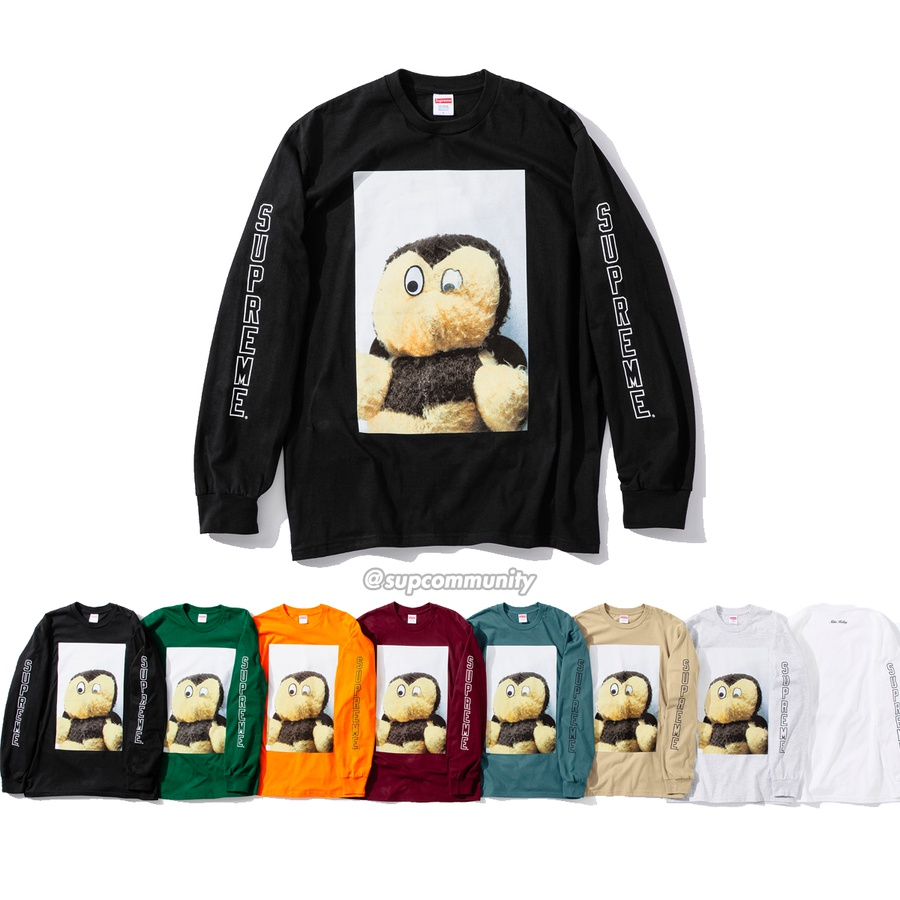 Mike Kelley/Supreme Ahh…Youth! L/S Tee - All cotton classic Supreme t-shirt with printed graphic on front, back and sleeves. <br><br>© Mike Kelley Foundation for the Arts.
