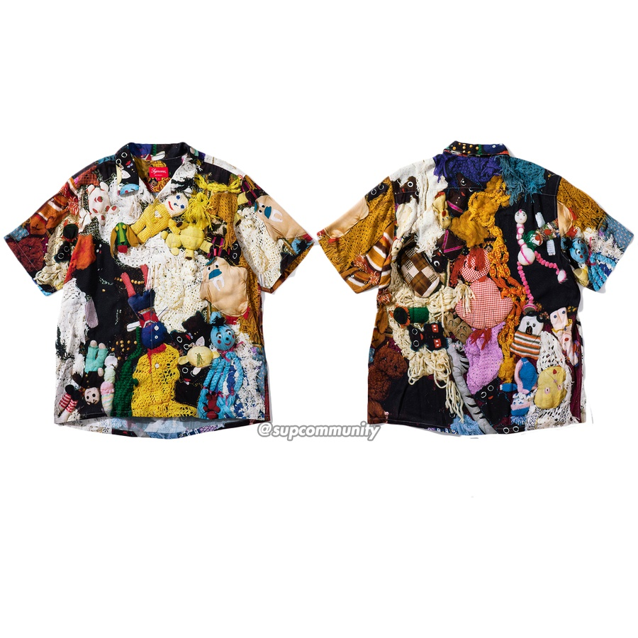 Mike Kelley/Supreme More Love Hours Than Can Ever Be Repaid Rayon Shirt - Rayon with printed pattern and single chest pocket. <br><br>© Mike Kelley Foundation for the Arts.