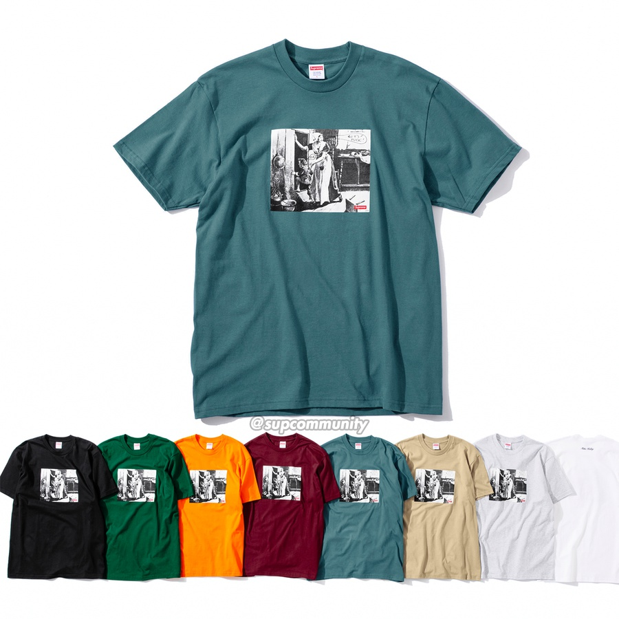 Mike Kelley/Supreme Hiding From Indians Tee - All cotton classic Supreme t-shirt with printed graphic on front and back. <br><br>© Mike Kelley Foundation for the Arts.
