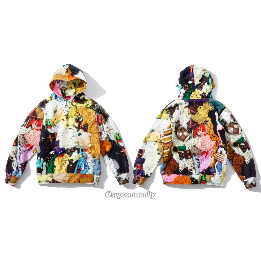 Mike Kelley/Supreme More Love Hours Than Can Ever Be Repaid Hooded Sweatshirt - Cotton fleece with printed pattern, pouch pocket and embroidered logo on chest. <br><br>© Mike Kelley Foundation for the Arts.