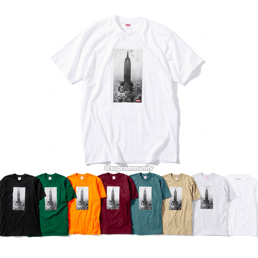 Mike Kelley/Supreme The Empire State Building Tee - All cotton classic Supreme t-shirt with printed graphic on front and back. <br><br>© Mike Kelley Foundation for the Arts.