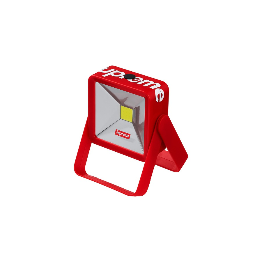 "Magnetic Kickstand Light - Portable LED light with adjustable stand and magnetic base. Printed logos on front and top. Batteries not included. 5"" x 3.5"" x 1.25""."