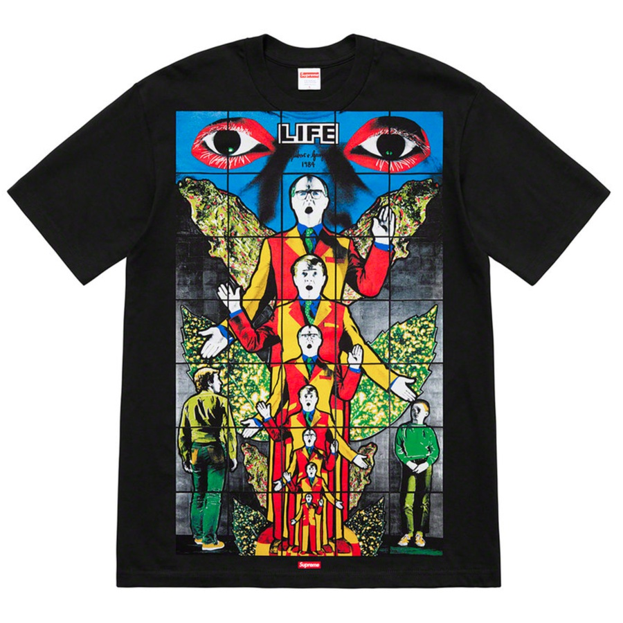 Gilbert & George/Supreme LIFE Tee - All cotton classic Supreme t-shirt with printed graphic on front. Original artwork by Gilbert & George.
