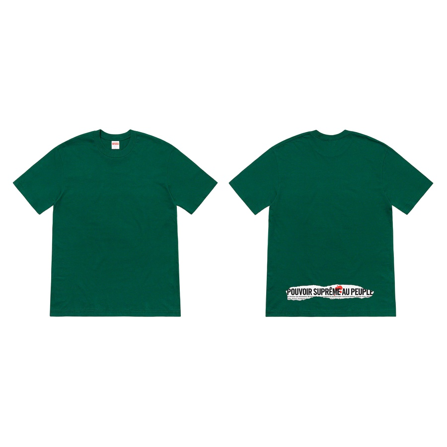 Headline Tee - All cotton classic Supreme t-shirt with printed graphic on back.
