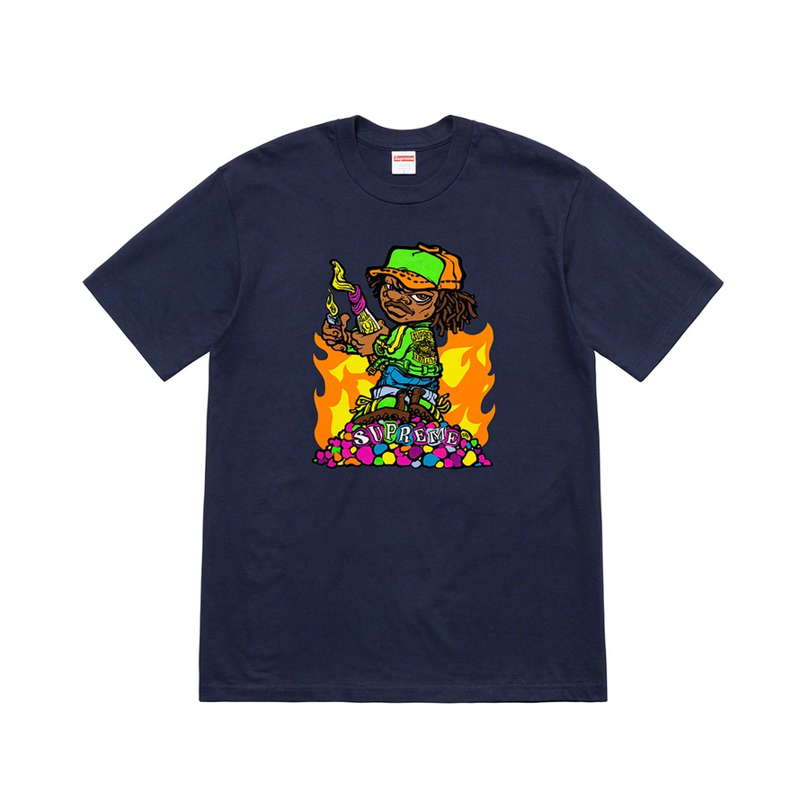 Molotov Kid Tee - All cotton classic Supreme t-shirt with printed graphic on front. Original artwork by Andy Howell.