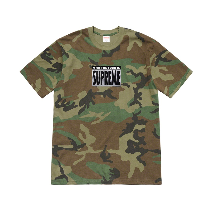 Who The Fuck Tee - All cotton classic Supreme t-shirt with printed graphic on front.