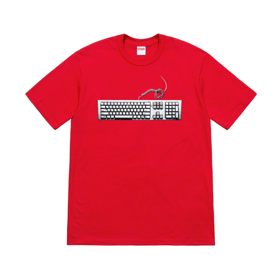 Keyboard Tee - All cotton classic Supreme t-shirt with printed graphic on front.