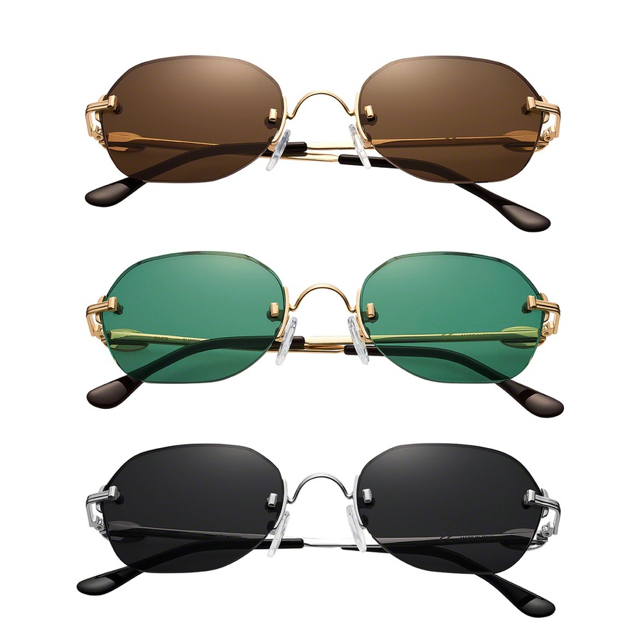 River Sunglasses - Handmade Italian metal frames. Enamel logo plates at temples. Anti-reflective coated lenses.