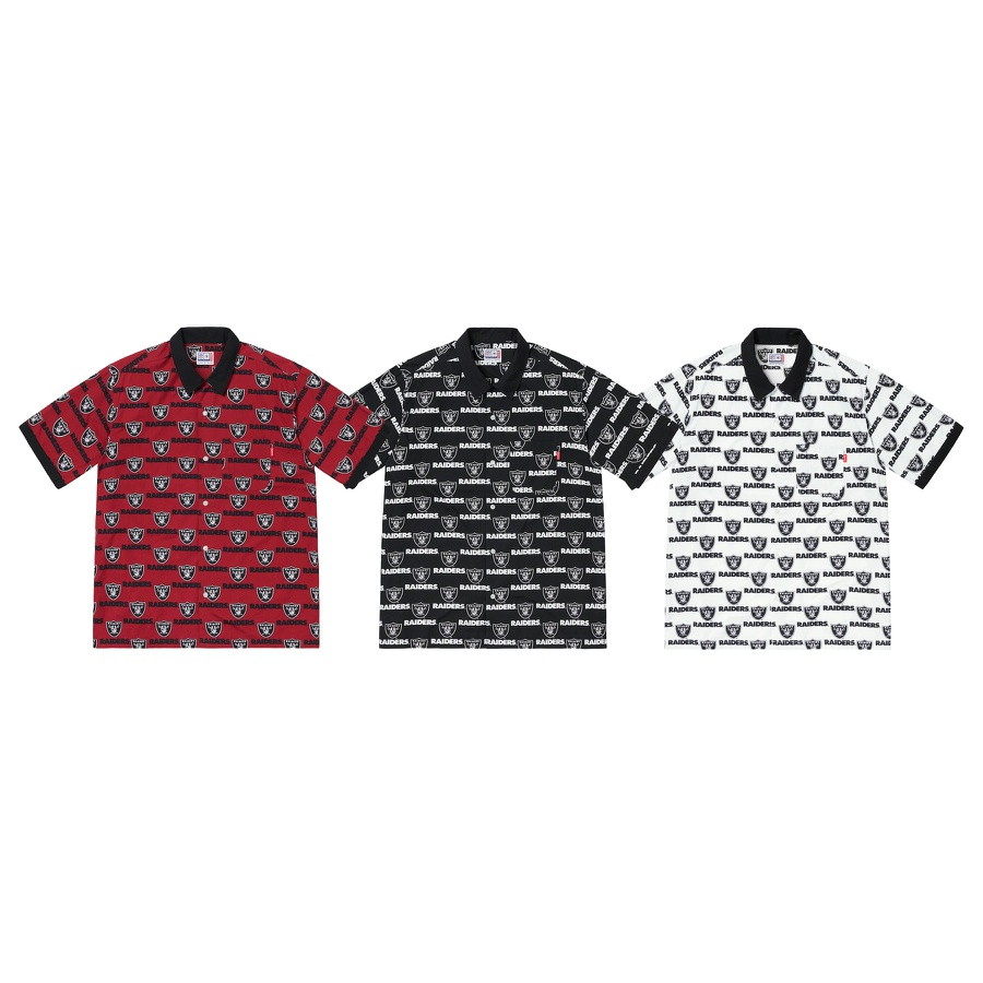 Supreme®/NFL/Raiders/'47 S/S Shirt - All cotton with printed pattern and single chest pocket. Official Raiders merchandise made exclusively for Supreme.