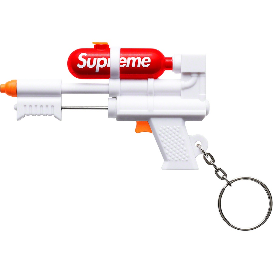 "Supreme®/Super Soaker 50 Water Blaster™ Keychain - Plastic keychain with 1"" keyring. Made exclusively for Supreme."