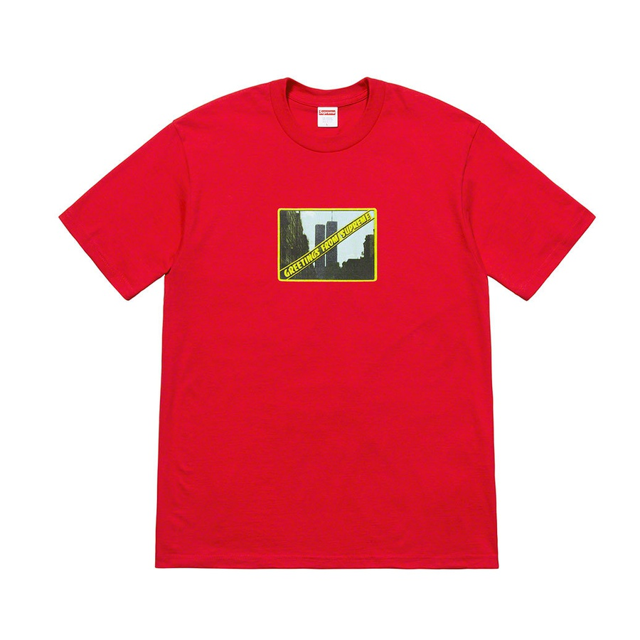 Greetings Tee - All cotton classic Supreme t-shirt with printed graphic on front and printed logo on back.
