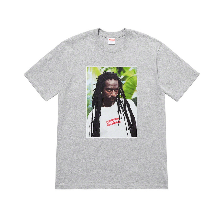 Buju Banton Tee - All cotton classic Supreme t-shirt with printed graphic on front and back.