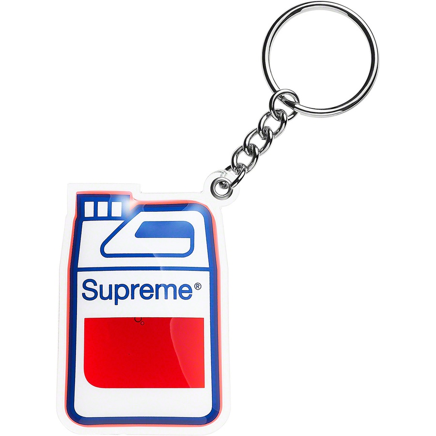 "Jug Keychain - Gel-filled keychain with 1"" keyring."