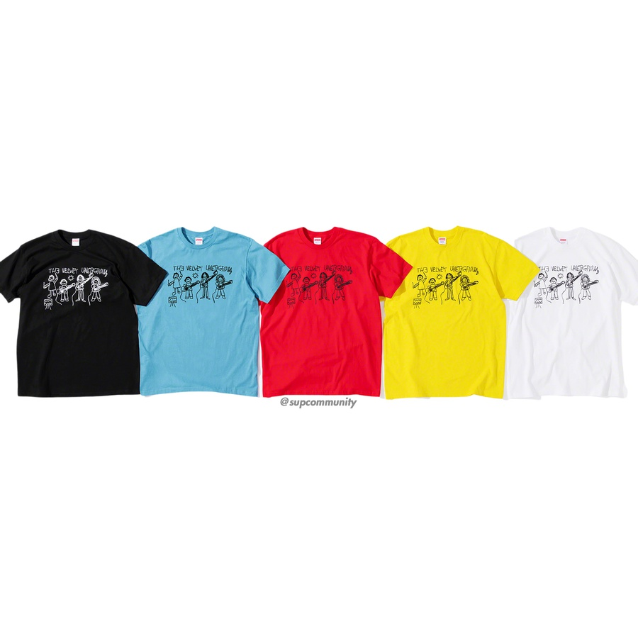 Supreme/The Velvet Underground Drawing Tee - All cotton classic Supreme t-shirt with printed graphic on front and printed logo on back.
