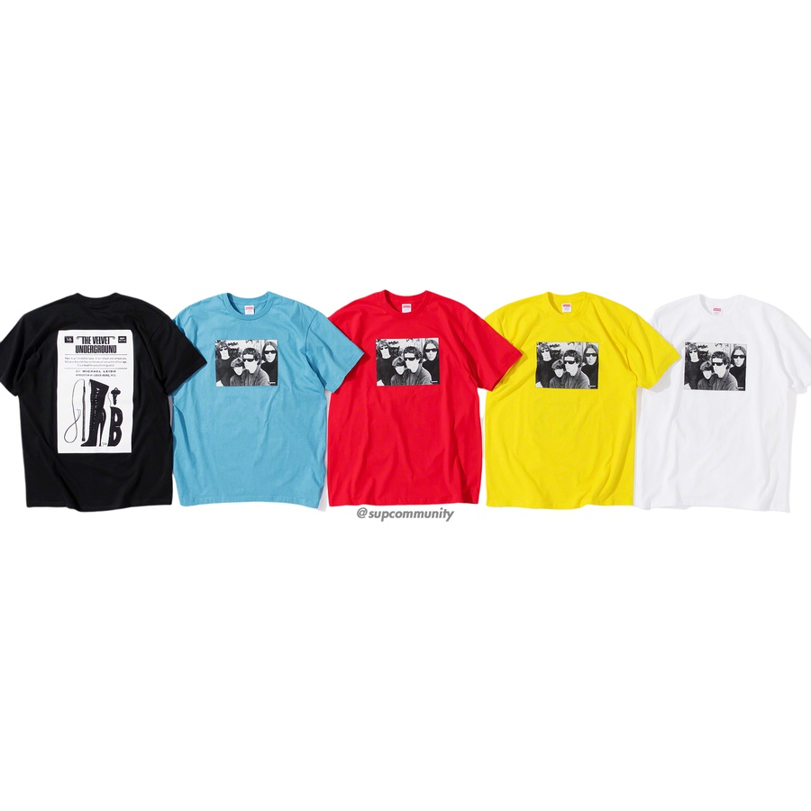 Supreme/The Velvet Underground Tee - All cotton classic Supreme t-shirt with printed graphic on front and back.
