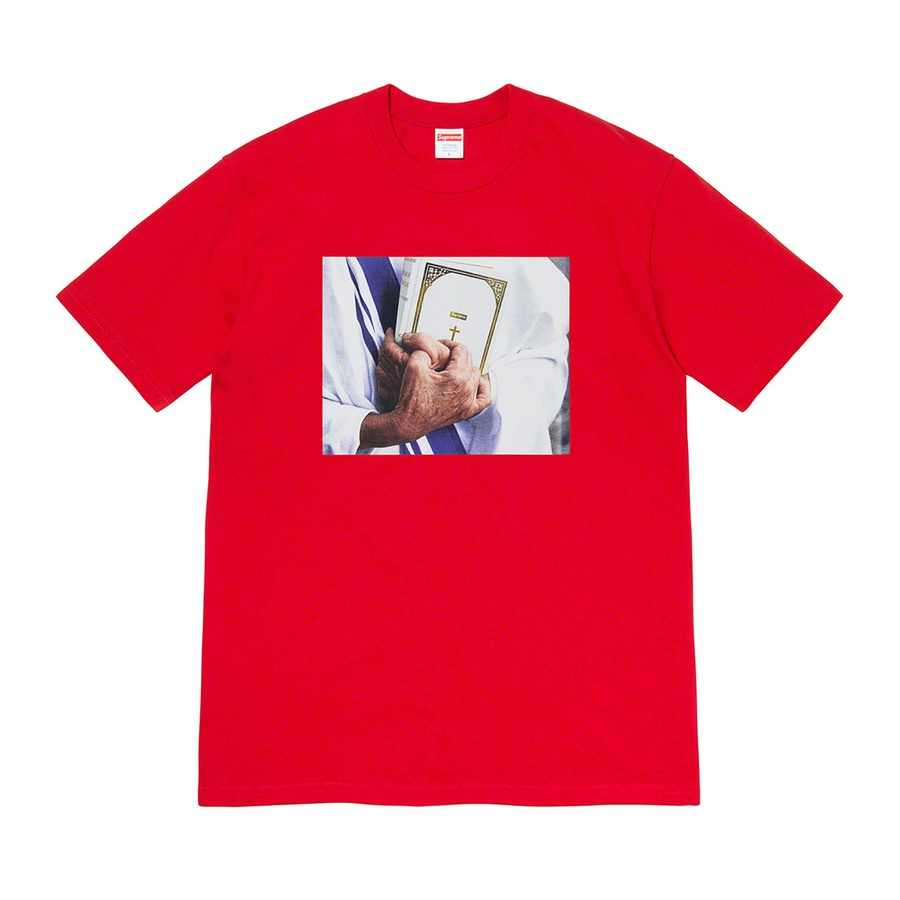 Bible Tee - All cotton classic Supreme t-shirt with printed graphic on front.