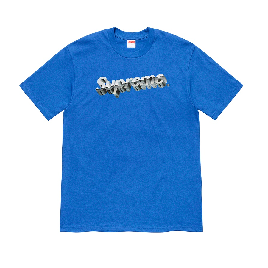 Chrome Logo Tee - All cotton classic Supreme t-shirt with printed logo on front.