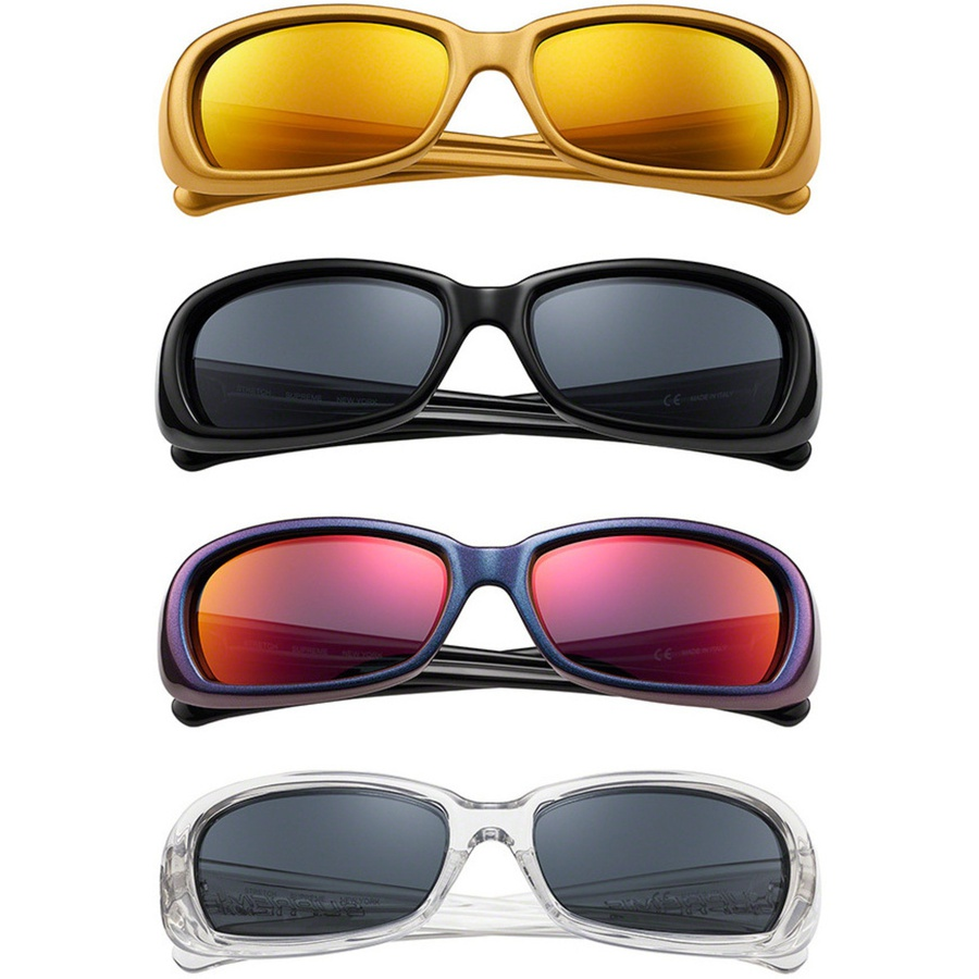 Stretch Sunglasses - Injection molded frames with anti-reflective coated nylon lenses. Debossed logo at temples.