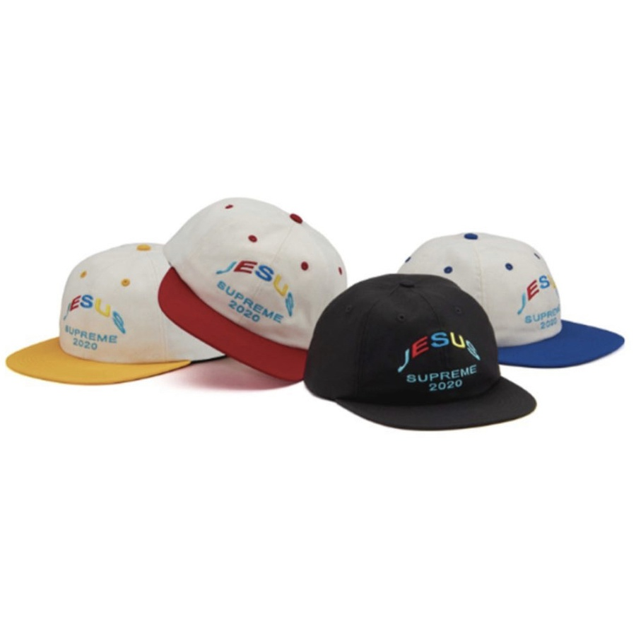 Jesus 6-Panel - Cotton blend twill 6-Panel hat with snap closure. Embroidered logos on front and back.