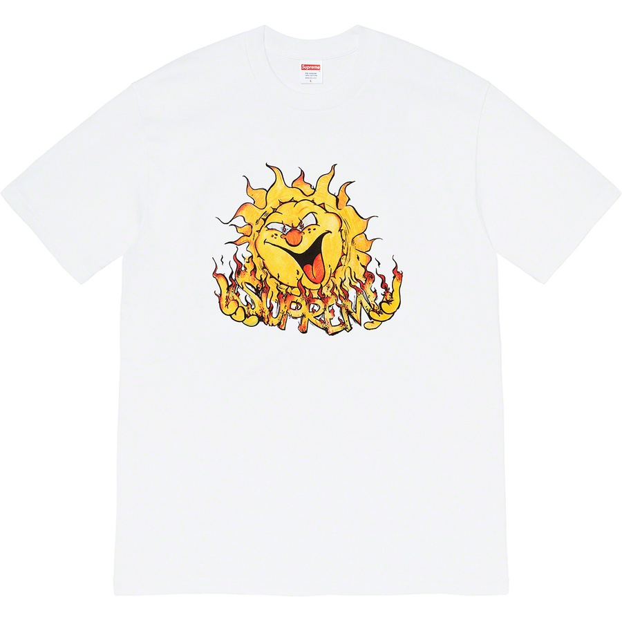 Sun Tee - All cotton classic Supreme t-shirt with printed graphic on front.