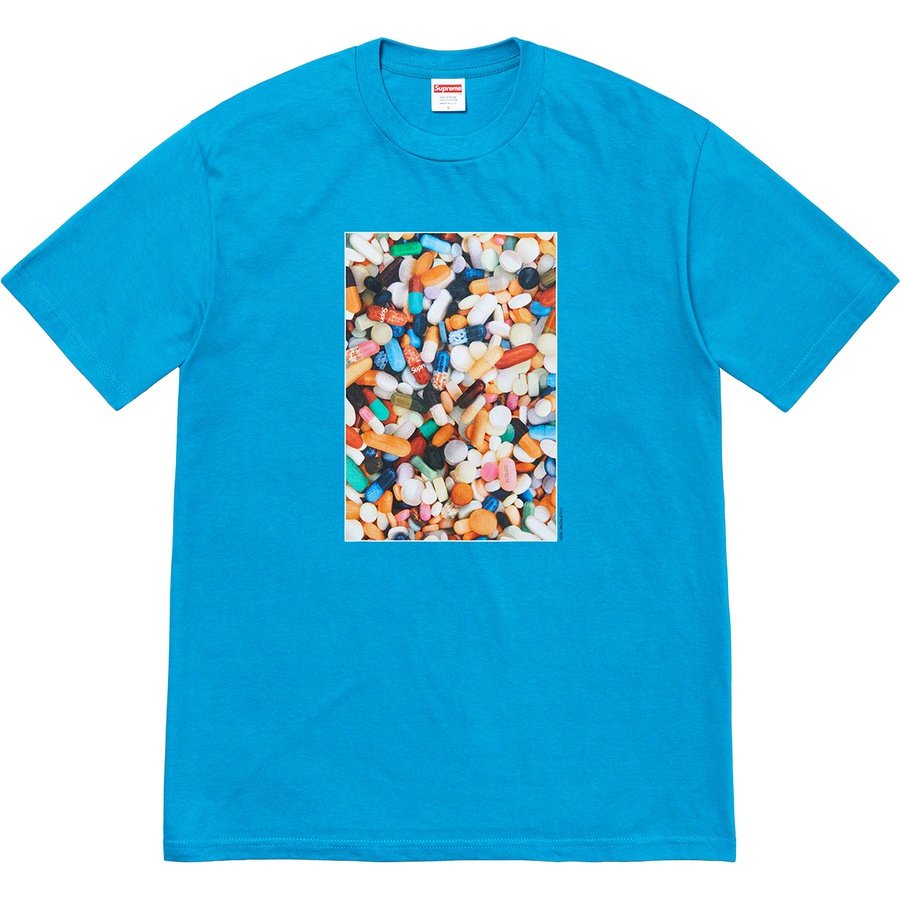 Pills Tee - All cotton classic Supreme t-shirt with printed graphic on front.