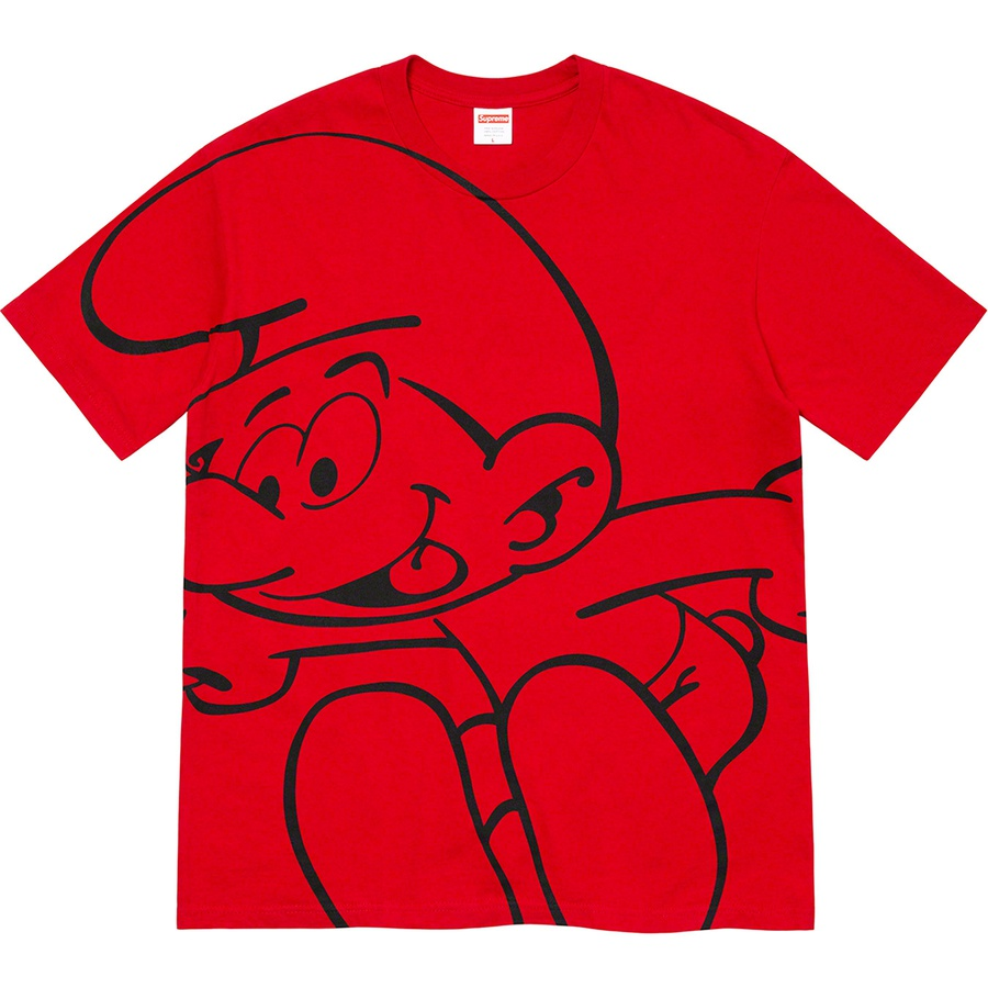 Supreme®/Smurfs™ Tee - All cotton classic Supreme t-shirt with printed graphic on front and printed logo on back.