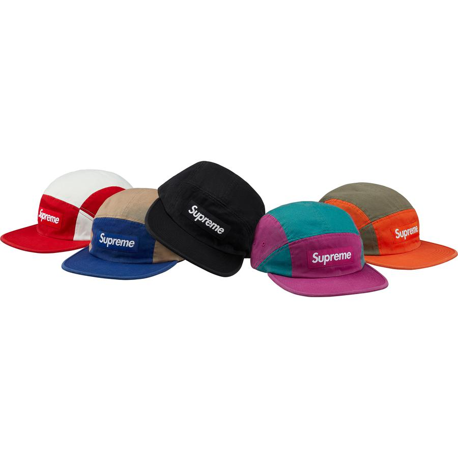 Contrast Panel Camp Cap - All cotton twill Supreme camp cap.