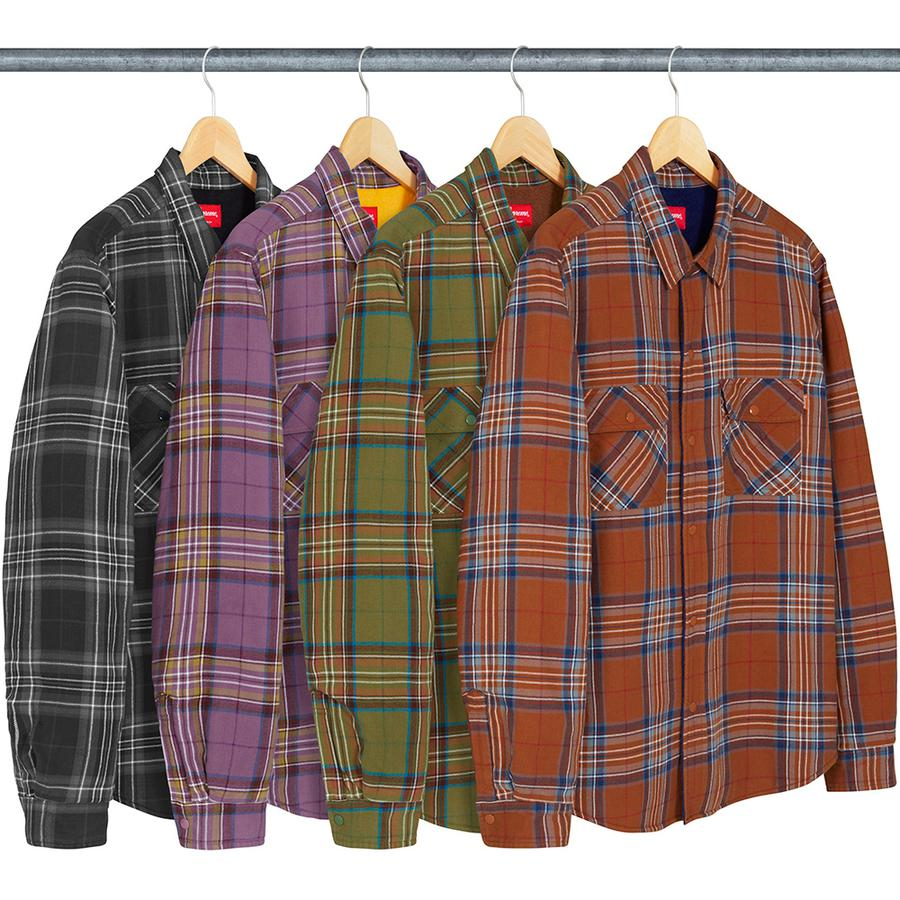 Pile Lined Plaid Flannel Shirt - All cotton flannel with pile lining and quilted taffeta sleeve lining. Snap flap patch pockets on chest.