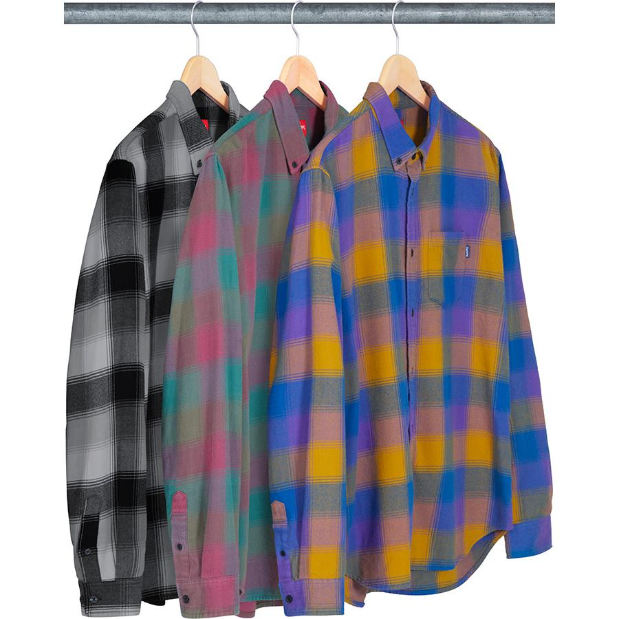 Shadow Plaid Flannel Shirt - All cotton with button down collar and single chest pocket.