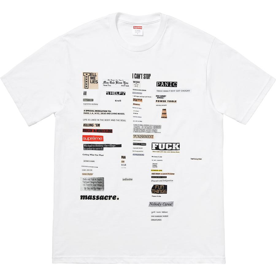 Cutouts Tee - All cotton classic Supreme t-shirt with printed graphic on front.