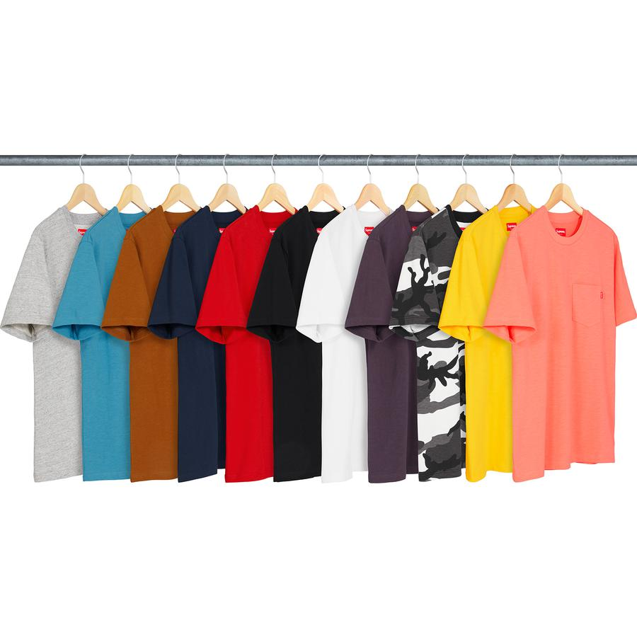 S/S Pocket Tee - All cotton slub jersey crewneck with single chest pocket.