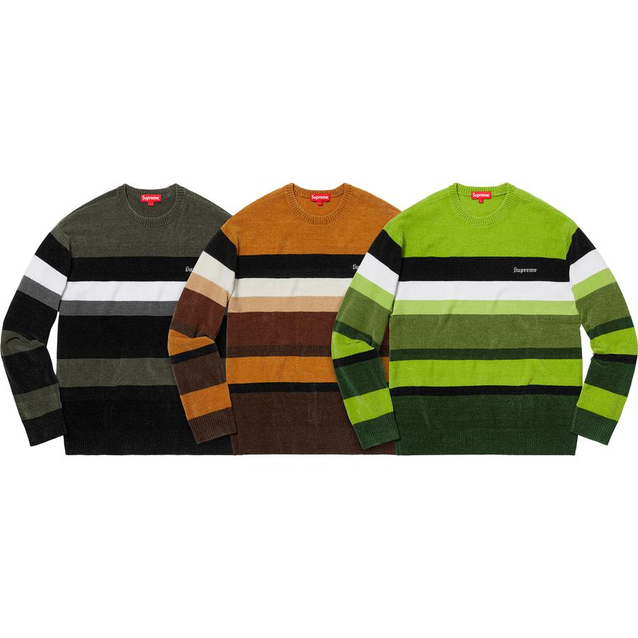 Chenille Sweater - Chenille with embroidered logo on chest.