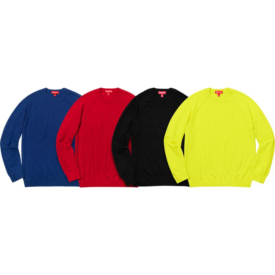 Cashmere Sweater - All cashmere with embroidered logo on chest.
