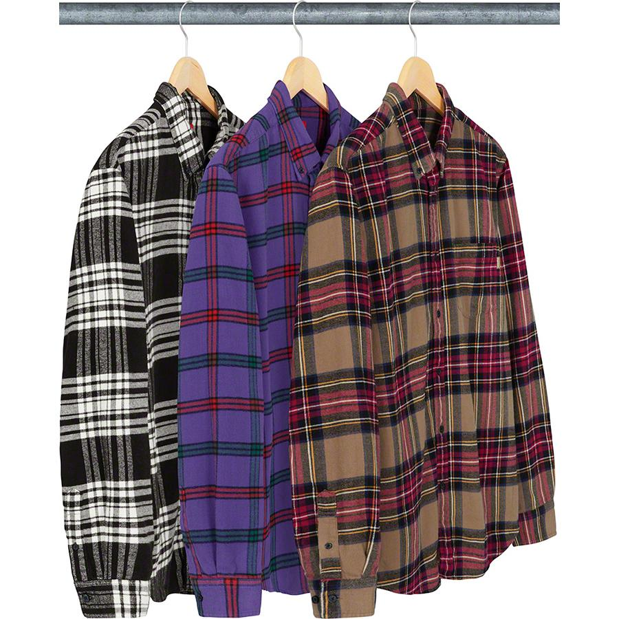 Tartan Flannel Shirt - All cotton with button down collar and single chest pocket.