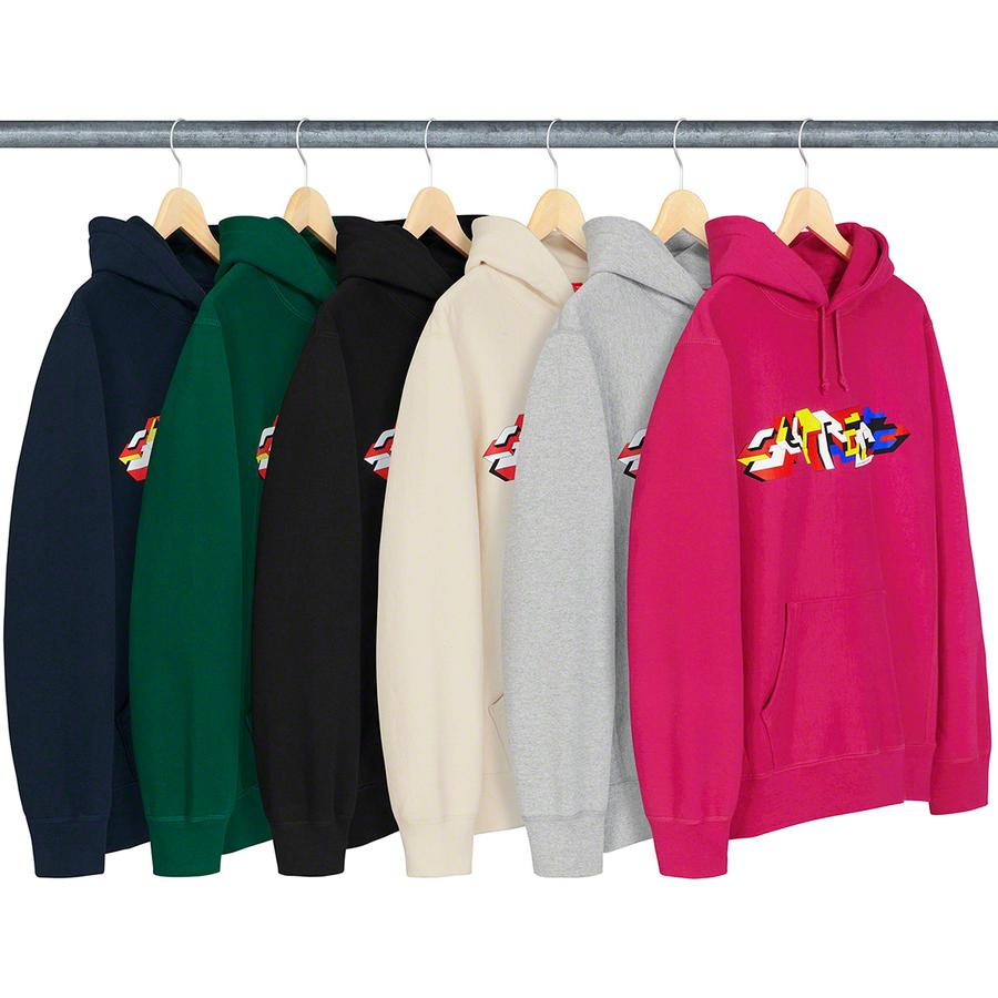 Delta Logo Hooded Sweatshirt - Heavyweight cotton crossgrain fleece with rib gussets and pouch pocket. Printed logo on chest and embroidered logo on hood. Original artwork by Delta.