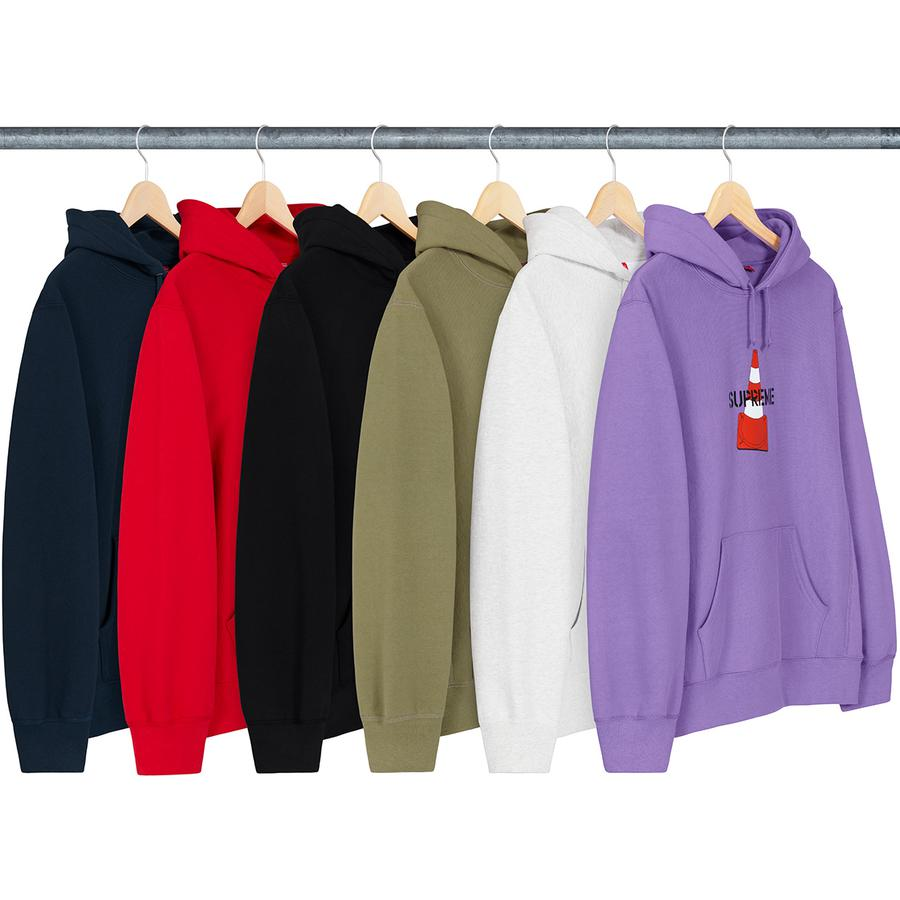 Cone Hooded Sweatshirt - Heavyweight cotton crossgrain fleece with rib gussets, pouch pocket and printed logo on chest.