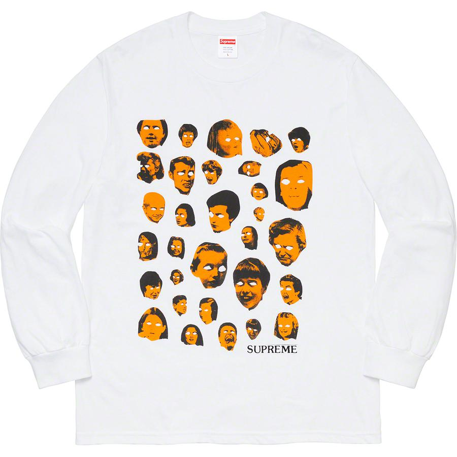 Faces L/S Tee - All cotton classic Supreme long sleeve t-shirt with printed graphic on front.