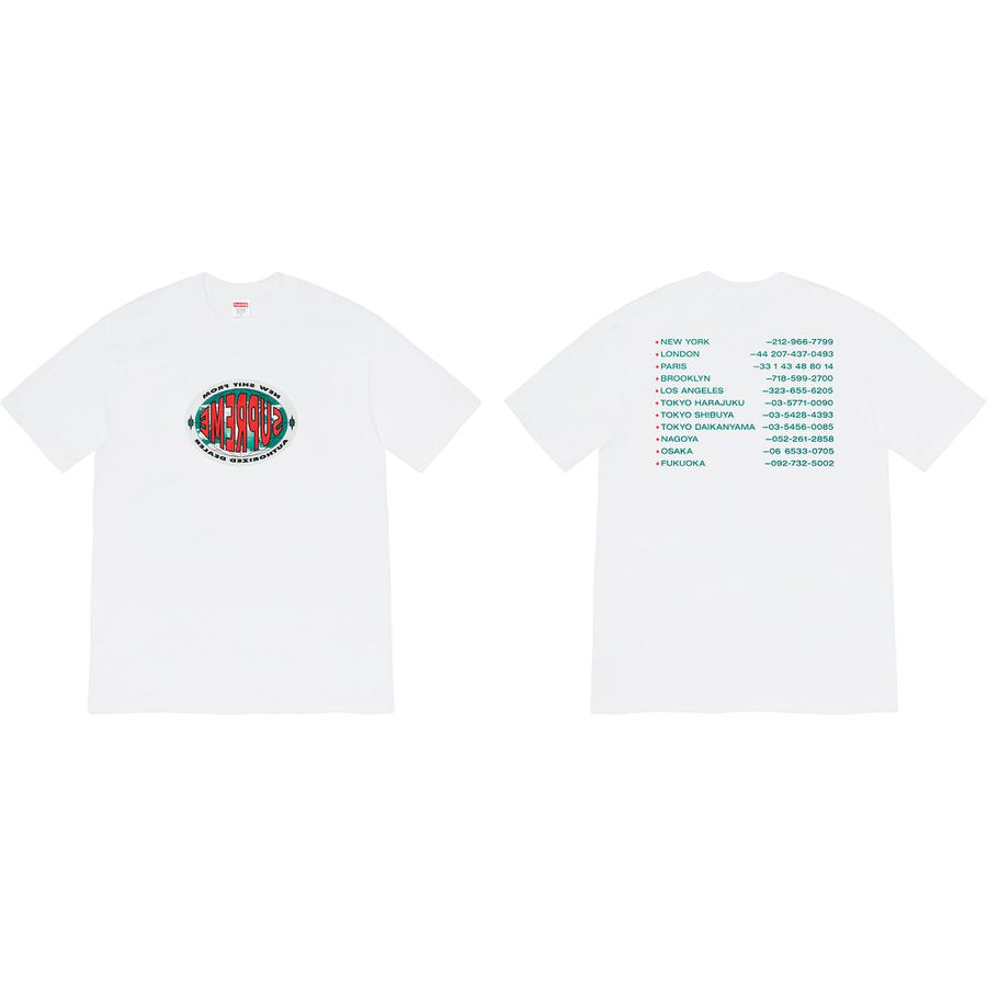 New Shit Tee - All cotton classic Supreme t-shirt with printed graphic on front and back.