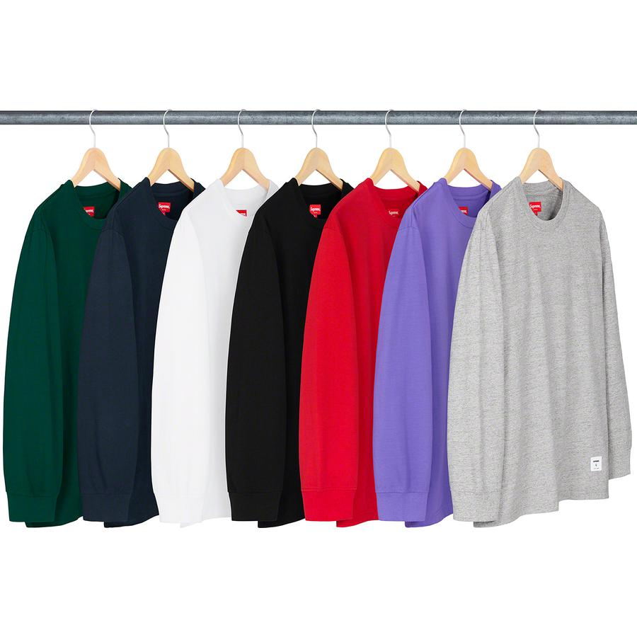 Trademark L/S Top - All cotton jersey crewneck with printed logo on back and athletic label at lower front.