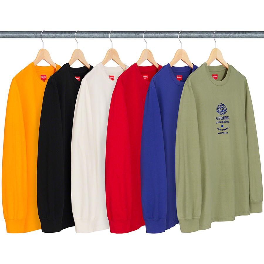 Marrakech L/S Top - All cotton jersey crewneck with embroidered logo on chest.