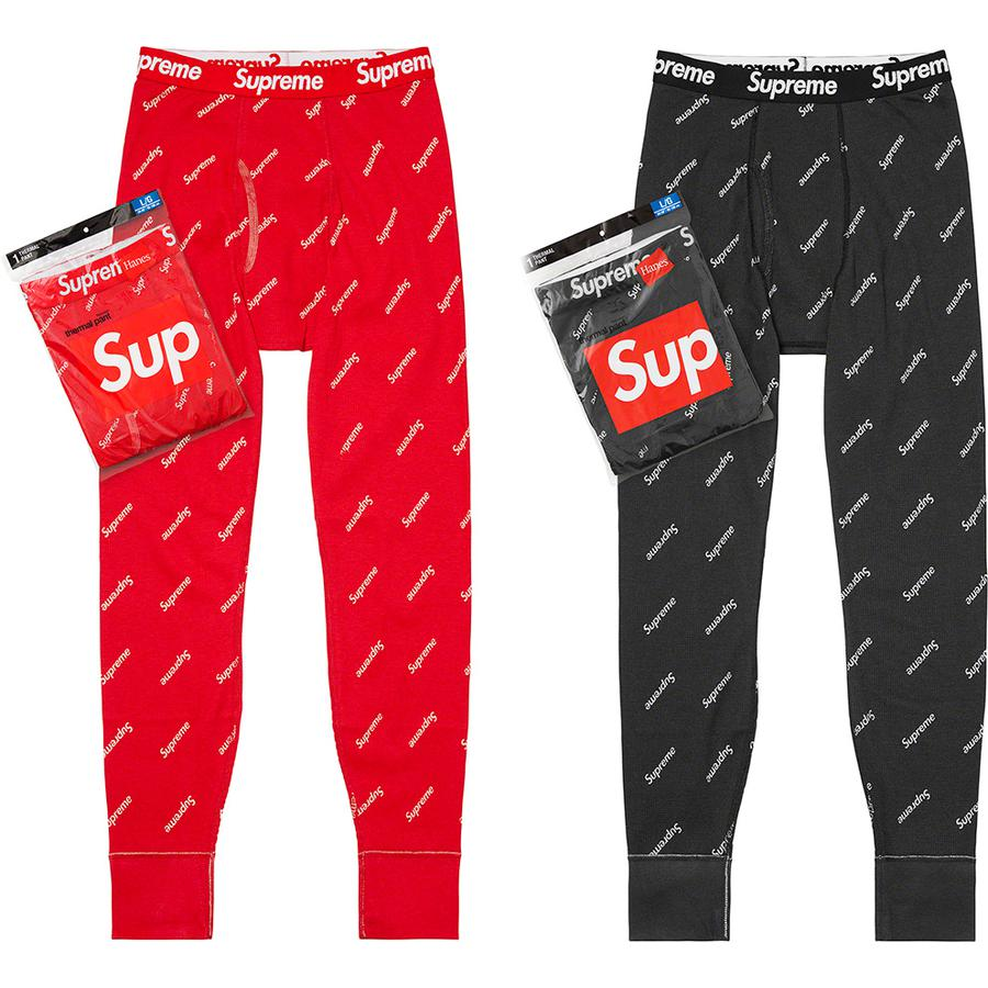 Supreme®/Hanes® Thermal Pant (1 Pack) - All cotton classic Hanes® waffle thermal pant.