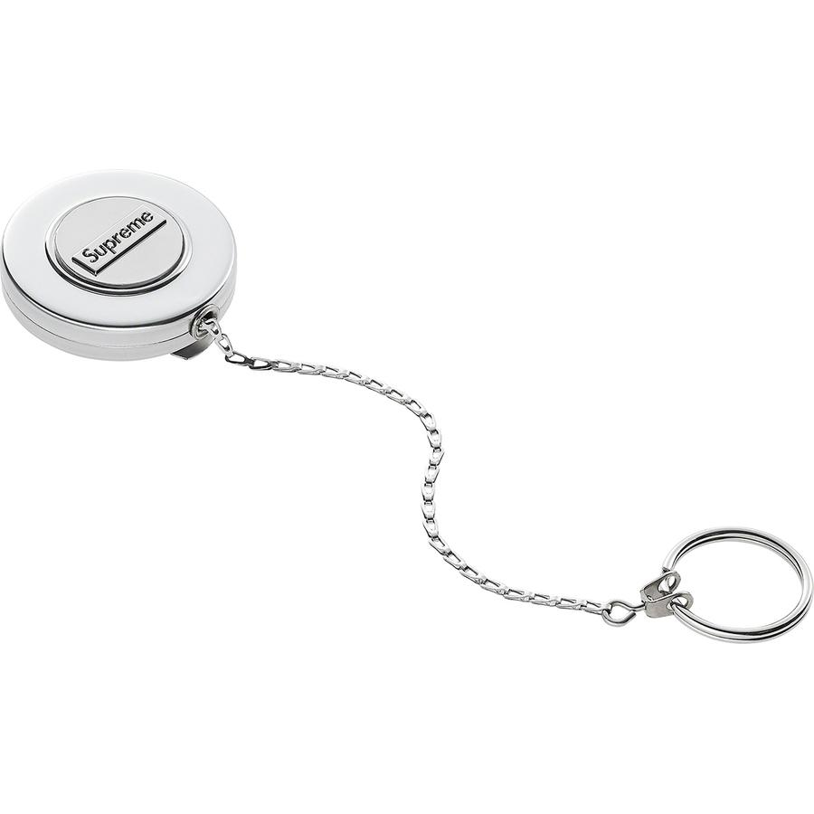 "Supreme®/KEY-BAK® Original Retractable Keychain - Durable stainless steel case with retractable 24"" stainless steel chain and steel belt clip. Stainless chain retraction force holds up to 8 oz. Embossed logo at front. Made exclusively for Supreme."