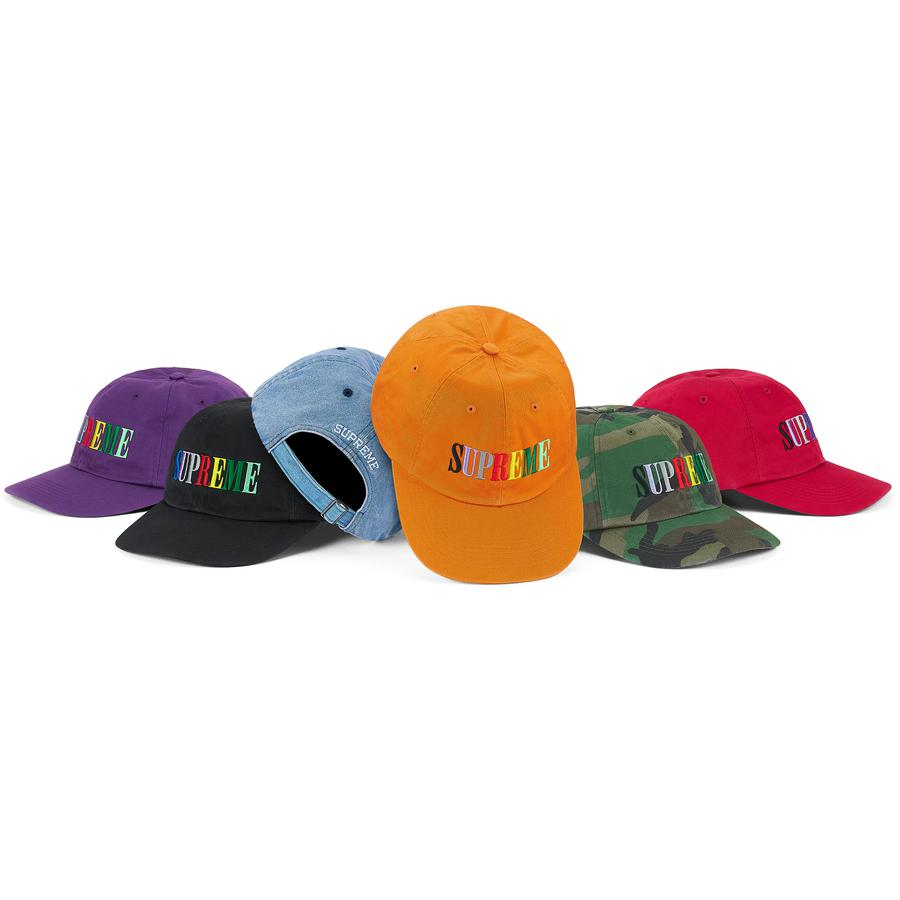 Multi Color Logo 6-Panel - All cotton chino twill 6-Panel with self strap closure. Embroidered logos on front and back.