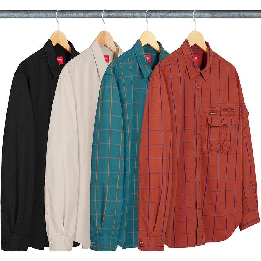 Twill Multi Pocket Shirt - All cotton twill with zip chest pocket and utility pockets at chest and sleeve.