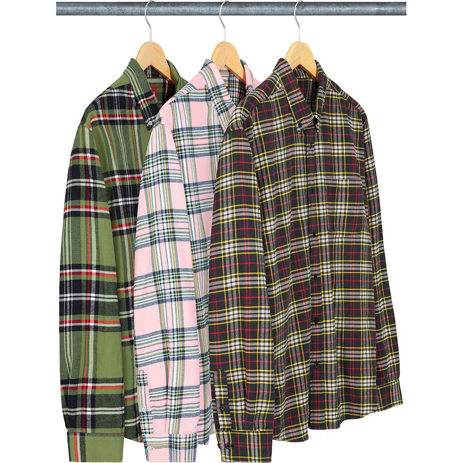 Tartan Flannel Shirt - All cotton flannel with button down collar and single chest pocket.