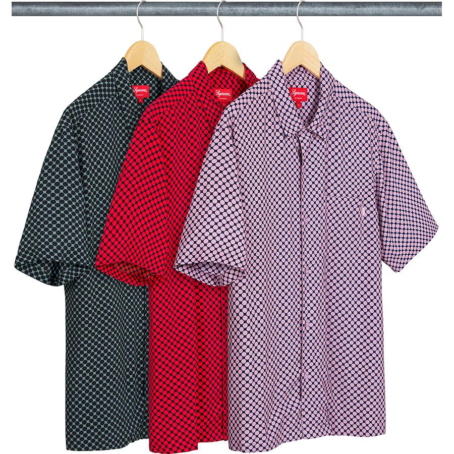 Compact Dot Rayon S/S Shirt - Rayon with printed pattern and single chest pocket.